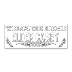Personalized Coloring Missionary Banner - Branches lds missionary banner, missionary poster, homecoming poster, personalized missionary homecoming banner, personalized missionary banner