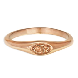 Micro Mini CTR Ring - Rose Gold