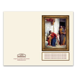 Carl Bloch Christ and Children Program Cover - Printable lds program cover, lds printable program cover