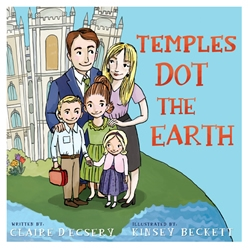 Temples Dot the Earth - Board Book temples dot the earth, temples, childrens temple book, temple book for children, childrens temple book