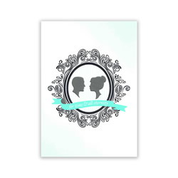 Temple Wedding Greeting Card