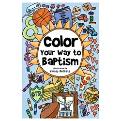 Color Your Way to Baptism - Pamphlet baptism, baptism gift, baptism pamphlet, baptism book, baptism coloring book, coloring book, baptism coloring book