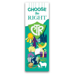 Primary Theme Choose the Right Bookmark lds ctr bookmark, ctr bookmark, 2017 primary theme bookmark, 2017 lds primary theme
