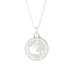 Canada Mission Necklace - Silver/Gold lds canada mission jewelry, lds canada mission necklace