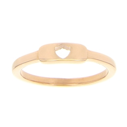 Shield Cutout Ring - Rose Gold
