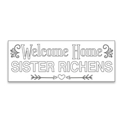 Personalized Coloring Missionary Banner - Elegant lds missionary banner, missionary poster, homecoming poster, personalized missionary homecoming banner, personalized missionary banner