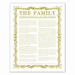 Filled Leaf Family Proclamation - Gold - Printable family proclamation, family proclamation to the world, the family proclamation, filled leaf, leaf, gold, printable, the family proclamation, gold leaf, gold printable