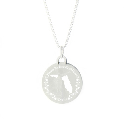 Florida Mission Necklace - Silver/Gold florida lds mission jewelry