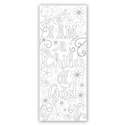 Flower Coloring Bookmark - Printable coloring bookmark, lds bookmark, lds coloring bookmark, primary bookmark, lds childrens bookmark