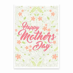 Mothers Day Card - Flowers - Printable free mothers day card, printable mothers day card, flowery mothers day card