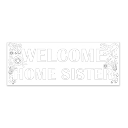 Coloring Missionary Banner - Sister lds missionary banner, missionary poster, homecoming poster, welcome home poster for missionaries, lds welcome home banner, sister missionary welcome home banner