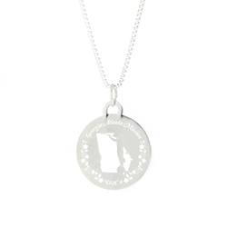 Georgia Mission Necklace - Silver/Gold georgia lds mission jewelry