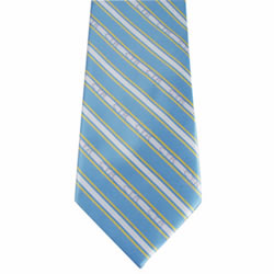 Boys Blue and Yellow CTR Stripe Tie