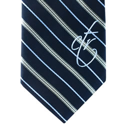 Mens Navy & Gray CTR Necktie