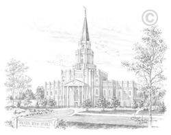 Houston Texas Temple - Sketch