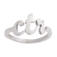 Calligraphy CTR Ring
