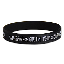 Embark in the Service of God Silicone Wristband