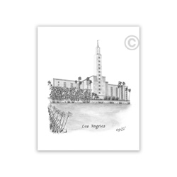 Los Angeles California Temple Recommend Holder