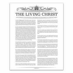 Temple Header Living Christ - Charcoal - Printable living christ, living christ printable, charcoal living christ, temple header