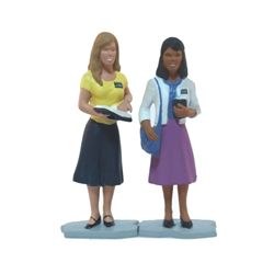 Purple Sister Missionaries Figurine - 3""
