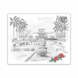 Laie Hawaii Temple Recommend Holder