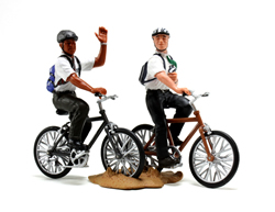 Missionaries on Bikes Figurine