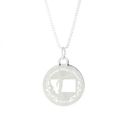Montana Mission Necklace - Silver/Gold montana lds mission jewelry