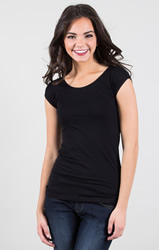 Black Cap Sleeve Wonder Tee