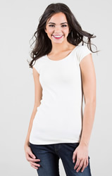 White Cap Sleeve Wonder Tee