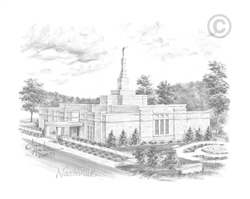Nashville Tennessee Temple - Sketch