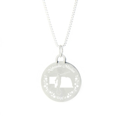 Nebraska Mission Necklace - Silver/Gold nebraska lds mission jewelry