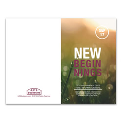 New Beginnings Program Cover - Printable lds program cover, lds printable program cover, lds young women program cover, new beginnings program