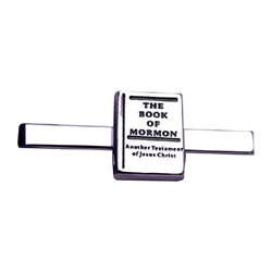 Book of Mormon Tie Clip - Silver