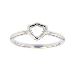 Open Shield CTR Ring - Silver