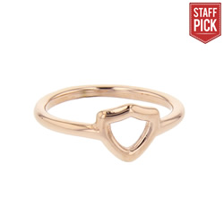 Open Shield CTR Ring - Rose Gold