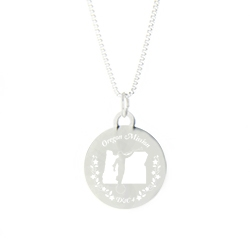 Oregon Mission Necklace - Silver/Gold oregon lds mission jewelry