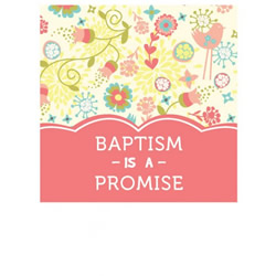 Baptism Mini Gift Card for Girl