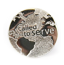 Called to Serve Globe Tie Tack