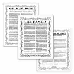Personalized Filled Leaf Family Poster Pack filled leaf, leaf, black, gold, charcoal, the living christ, living christ, home decor, family posters, poster pack, wedding gift, family proclamation, articles of faith, living christ, the living christ, the articles of faith, the family proclamation, the family proclamation to the world, family proclamation to the world