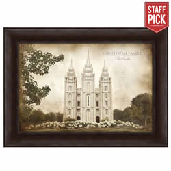 Salt Lake Temple - Vintage Framed