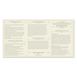 Priesthood Ordinance Card - LDP-CRD225