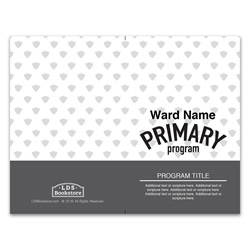 Gray Primary Program Cover - Printable lds program cover, lds printable program cover, primary program cover