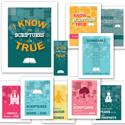 I Know the Scriptures are True Primary Theme Pack - Printable