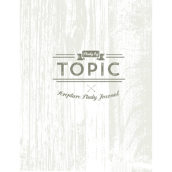 Study by Topic Journal - Rustic Version lds study by topic, lds scripture study topical guide