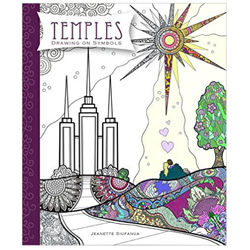 Temples Coloring Book: Drawing on Symbols temples coloring book, adult coloring book, coloring book for adults
