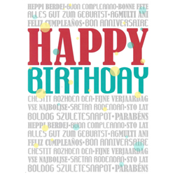 Multi-Language Missionary Birthday Greeting Card