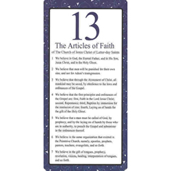 13 Articles of Faith Bookmark - 10 Pack