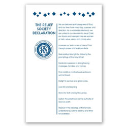Relief Society Declaration Poster - Modern relief society poster, relief society posters, relief society, relief society declaration, modern poster, modern