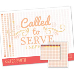 Scroll Sister Missionary Countdown Calendar