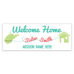 Mission to Home Banner - Sister lds missionary banner, pathway home missionary banner, coming home missionary poster, homecoming mission poster, sisters homecoming banner, sisters missionary poster, sisters missionary banner